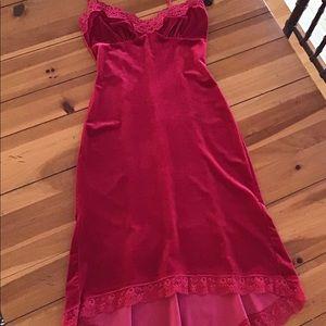 Betsey Johnson Red Velour Cocktail Dress